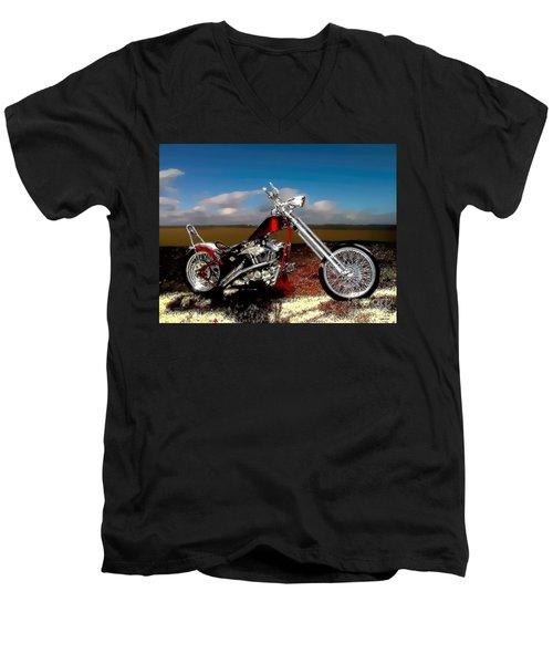 Aztec Rest Stop Men's V-Neck T-Shirt by Lesa Fine