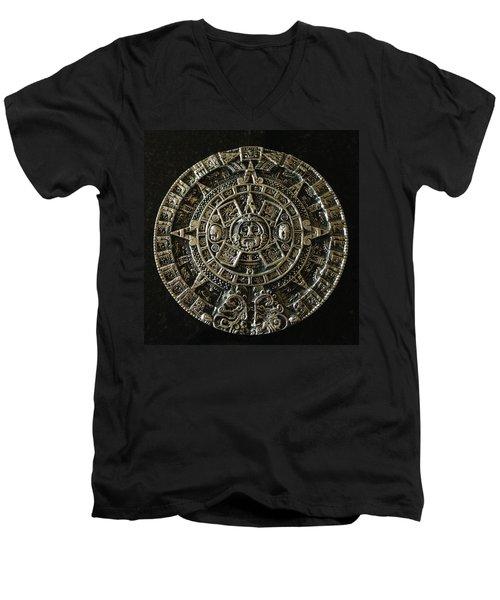 Aztec Men's V-Neck T-Shirt by Julio Lopez