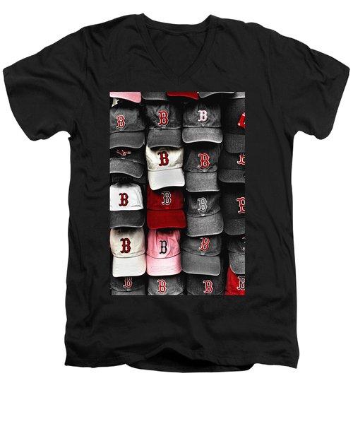 B For Bosox Men's V-Neck T-Shirt
