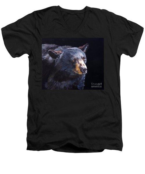 Back In Black Bear Men's V-Neck T-Shirt