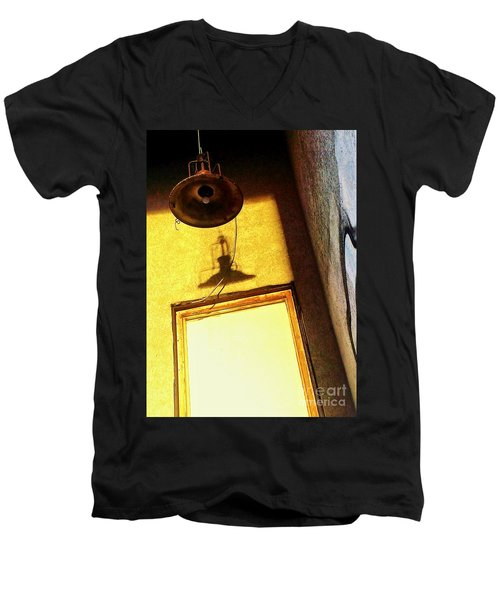 Men's V-Neck T-Shirt featuring the photograph Back Of House by James Aiken