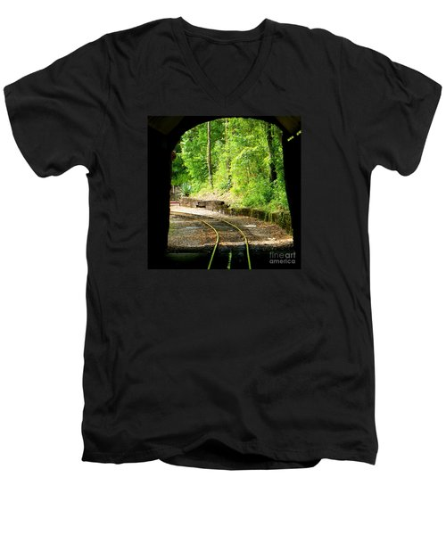 Men's V-Neck T-Shirt featuring the photograph Back Tracking by Joy Hardee