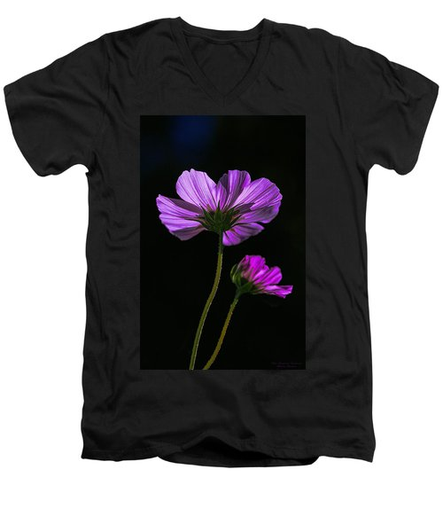 Backlit Blossoms Men's V-Neck T-Shirt