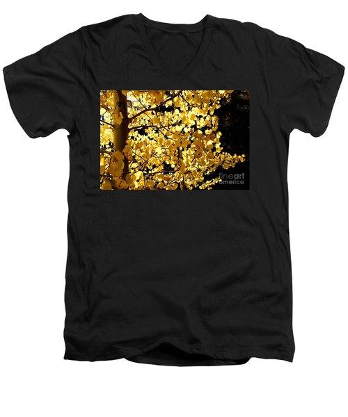 Backlit Men's V-Neck T-Shirt