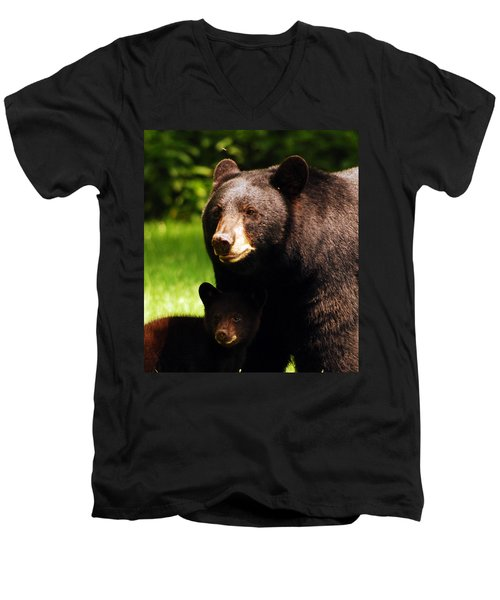 Backyard Bears Men's V-Neck T-Shirt