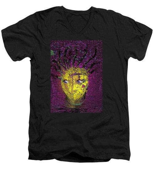 Bad Hair Day Men's V-Neck T-Shirt by Irma BACKELANT GALLERIES