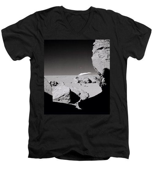 The Earth Men's V-Neck T-Shirt by Shaun Higson