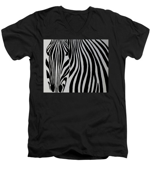 Badzebra Men's V-Neck T-Shirt