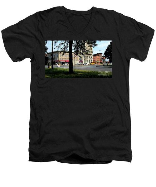 Bagg's Square West Men's V-Neck T-Shirt by Peter Gumaer Ogden