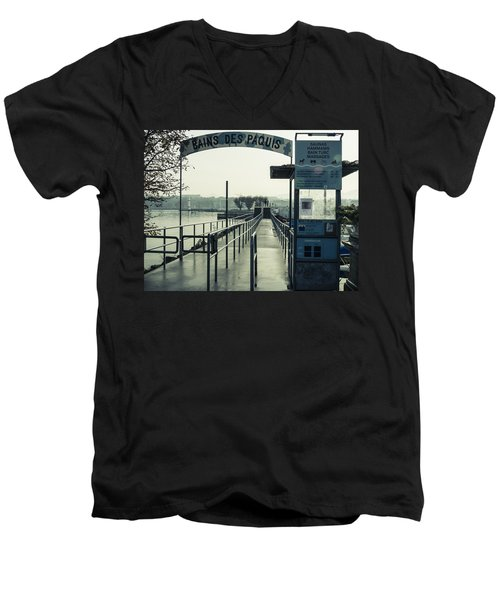 Men's V-Neck T-Shirt featuring the photograph Bains Des Paquis by Muhie Kanawati