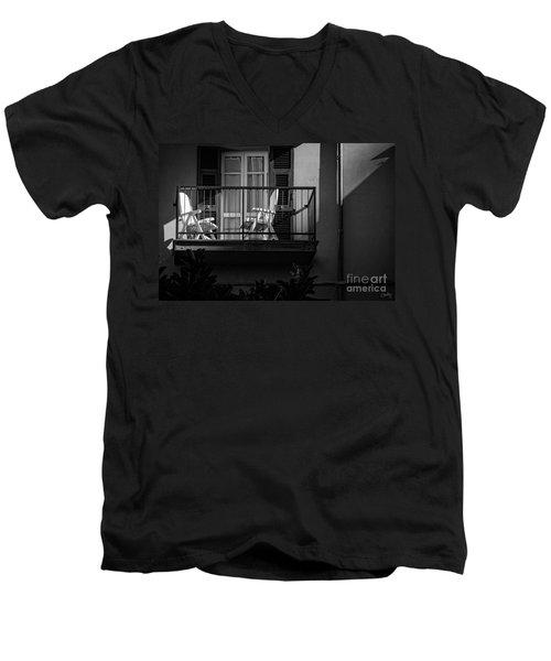Balcony Bathed In Sunlight Men's V-Neck T-Shirt
