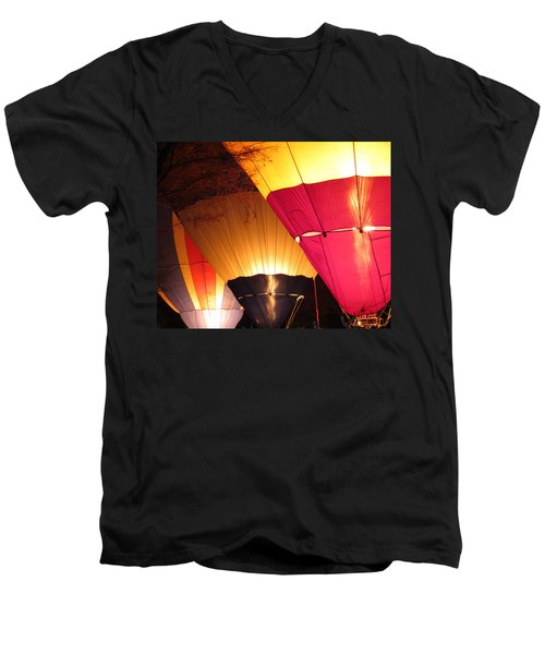 Balloons At Night Men's V-Neck T-Shirt