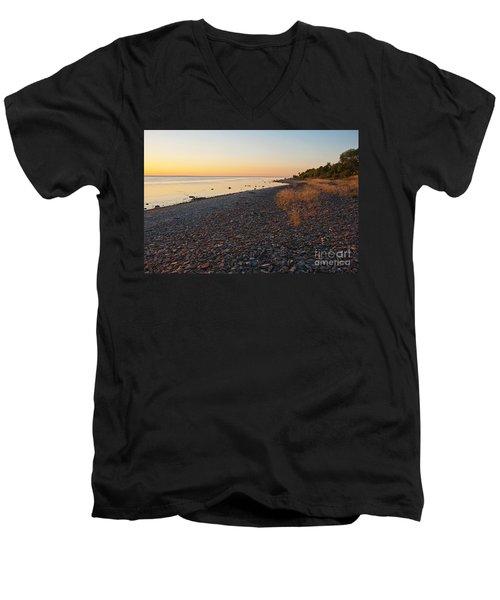 Baltic Sea Coast Men's V-Neck T-Shirt by Kennerth and Birgitta Kullman