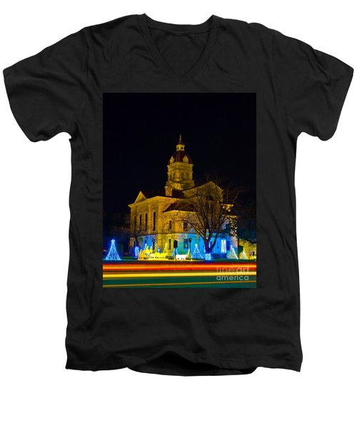 Bandera County Courthouse Men's V-Neck T-Shirt