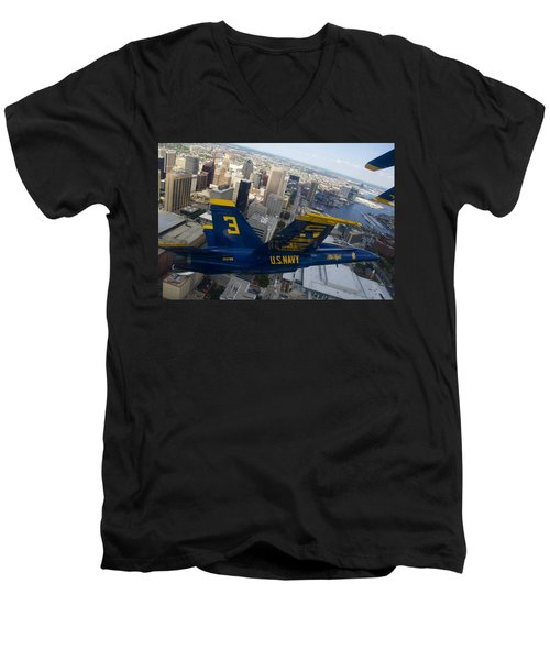 Banking Above Baltimore Men's V-Neck T-Shirt