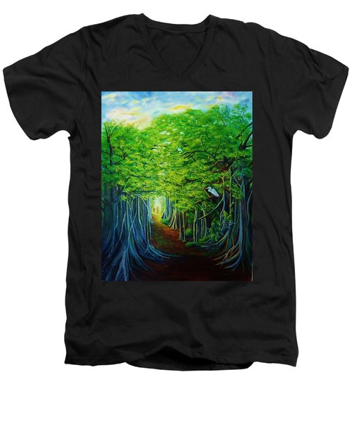 Banyan Walk Men's V-Neck T-Shirt