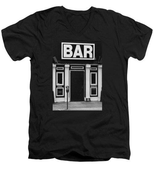 Men's V-Neck T-Shirt featuring the photograph Bar by Rodney Lee Williams