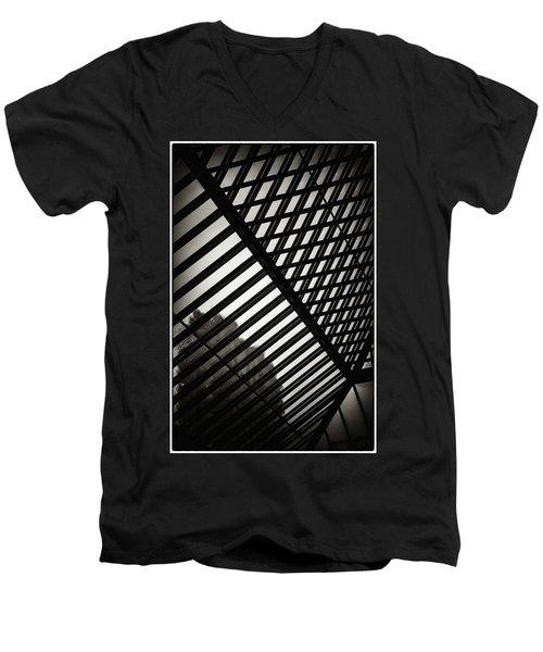 Barbican Grids Men's V-Neck T-Shirt