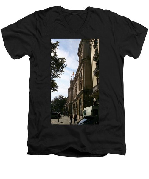 Barcelona Street Men's V-Neck T-Shirt