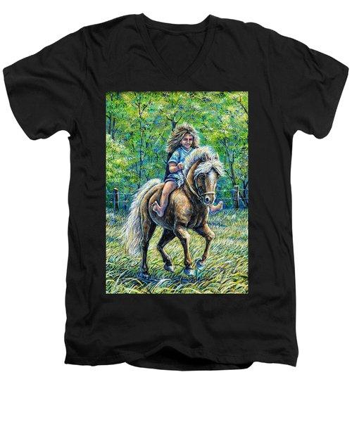 Barefoot Rider Men's V-Neck T-Shirt