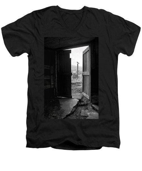 Barn Door - View From Within - Old Barn Picture Men's V-Neck T-Shirt