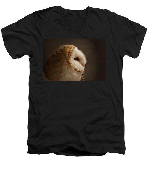 Barn Owl 3 Men's V-Neck T-Shirt