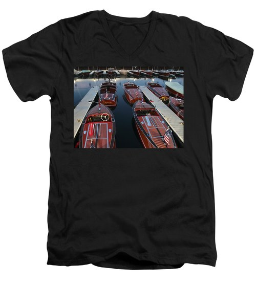 Barrelbacks At Night Men's V-Neck T-Shirt