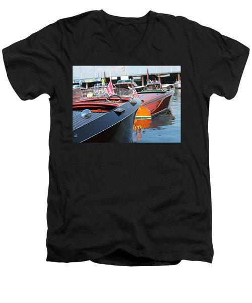 Barrelbacks At Tahoe Men's V-Neck T-Shirt