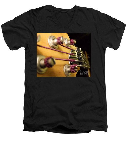 Men's V-Neck T-Shirt featuring the photograph Bass II by Andrea Anderegg