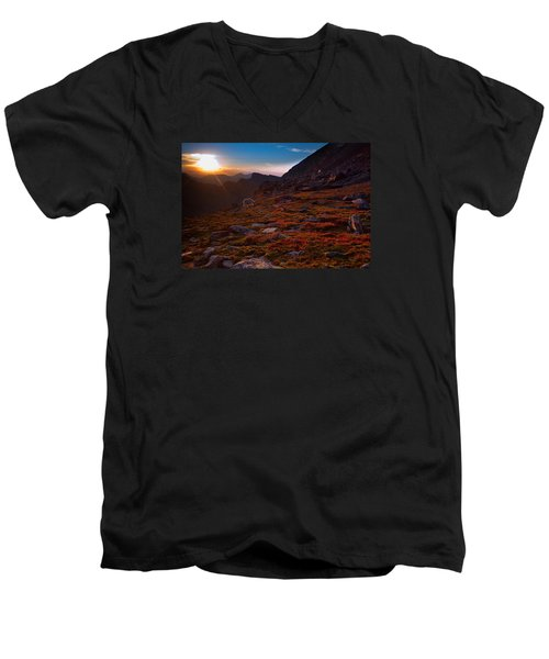 Bathing In Last Light Men's V-Neck T-Shirt by Jim Garrison