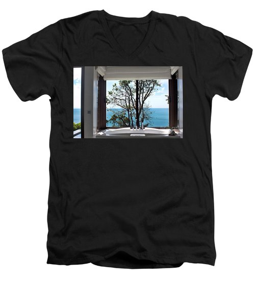 Bathroom With A View Men's V-Neck T-Shirt