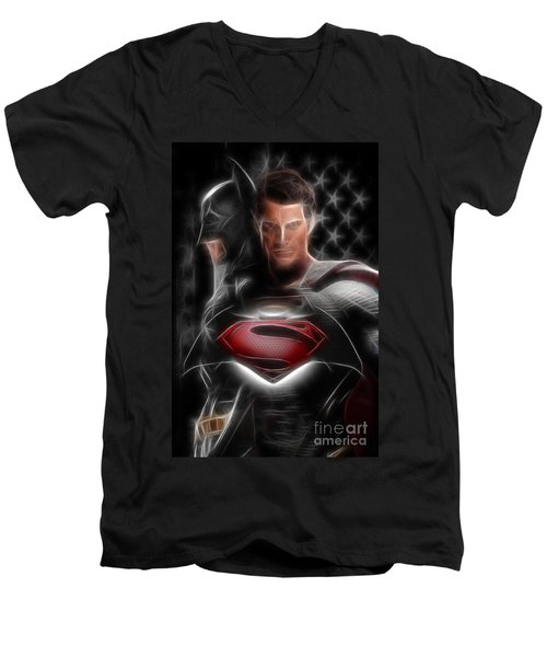 Batman Vs Superman  Men's V-Neck T-Shirt