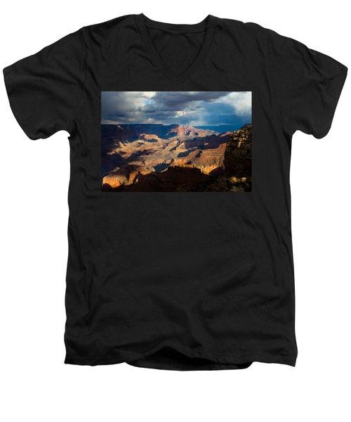 Battleship Rock In The Shadows Men's V-Neck T-Shirt