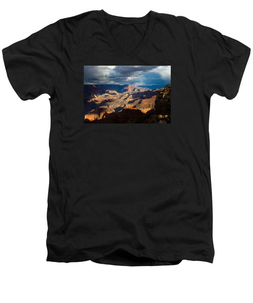 Battleship Rock In The Shadows Men's V-Neck T-Shirt