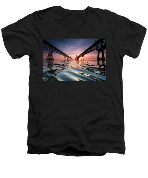 Bay Bridge Reflections Men's V-Neck T-Shirt