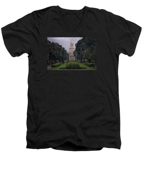 Baylor University Icon Men's V-Neck T-Shirt by Joan Carroll