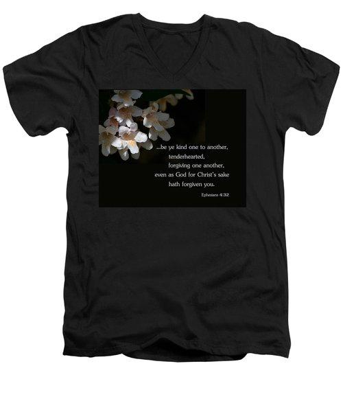 Men's V-Neck T-Shirt featuring the photograph Be Ye Kind by Larry Bishop