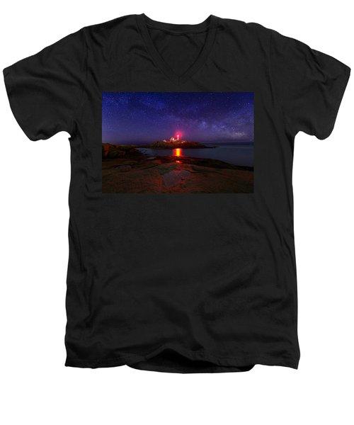 Beacon In The Night Men's V-Neck T-Shirt