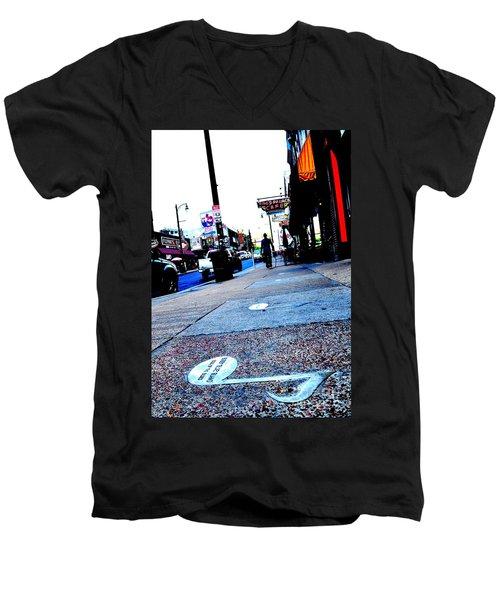 Beale Street Strolling Men's V-Neck T-Shirt