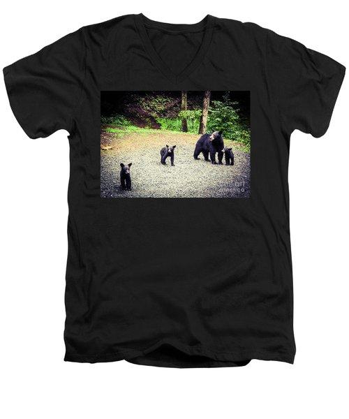 Bear Family Affair Men's V-Neck T-Shirt