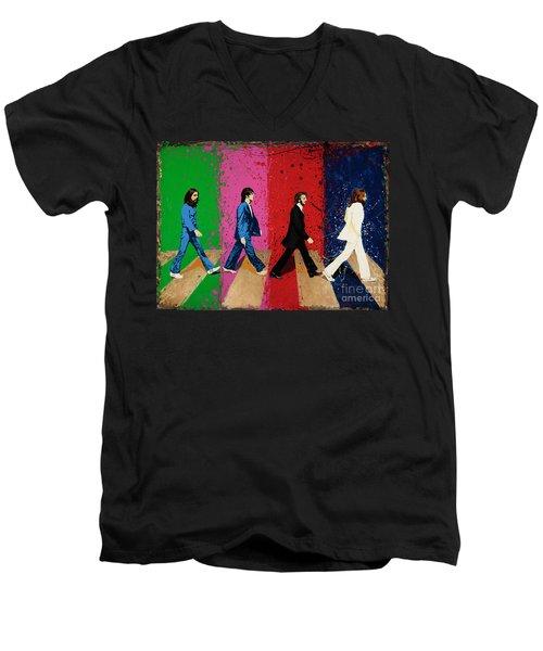 Beatles Crossing Men's V-Neck T-Shirt