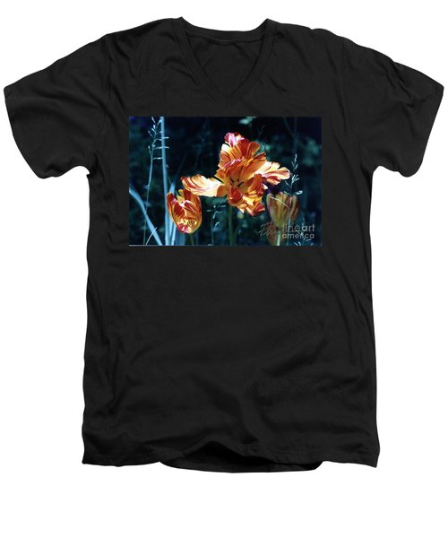 Men's V-Neck T-Shirt featuring the photograph Gorgeous Tulip by Phyllis Kaltenbach