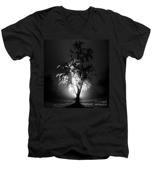 Beautiful Foggy Night 1 Men's V-Neck T-Shirt