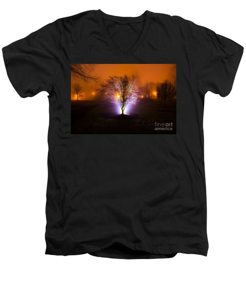 Beautiful Foggy Night 2 Men's V-Neck T-Shirt