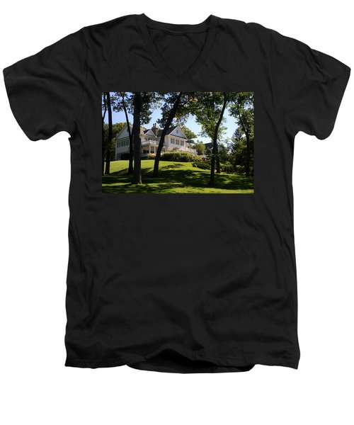 Beautiful Hillside Home Men's V-Neck T-Shirt