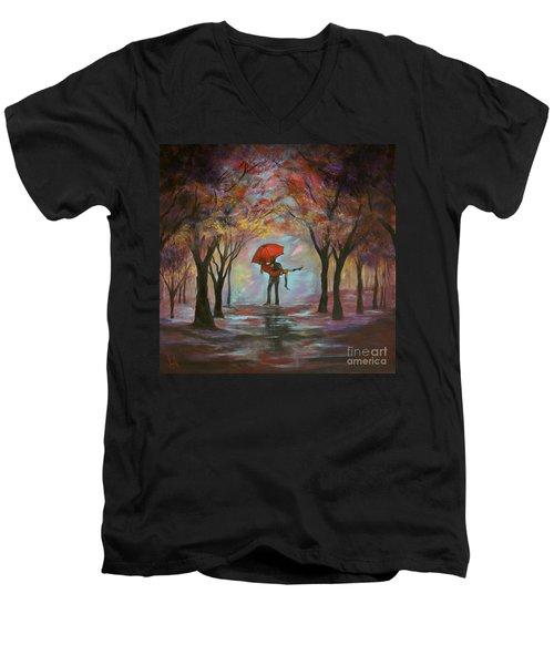 Beautiful Romance Men's V-Neck T-Shirt