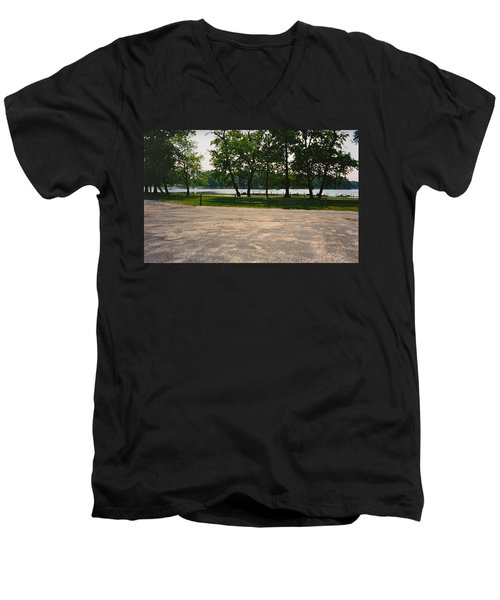 Beautiful Scene From God Men's V-Neck T-Shirt