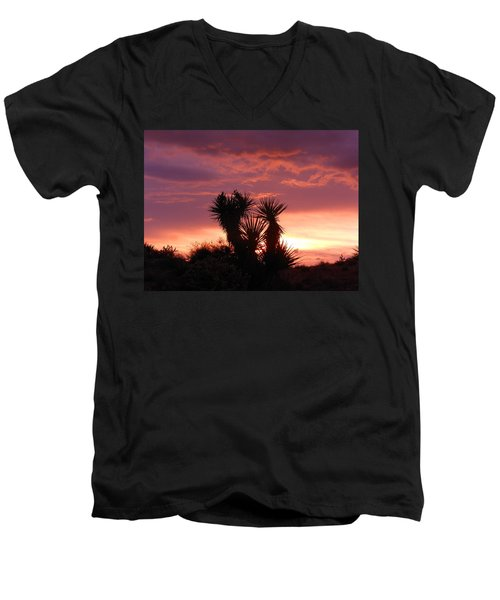 Beautiful Sunset In Arizona Men's V-Neck T-Shirt