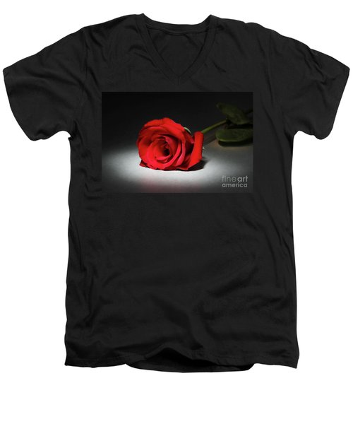 Beauty In The Spotlight Men's V-Neck T-Shirt by Mariola Bitner