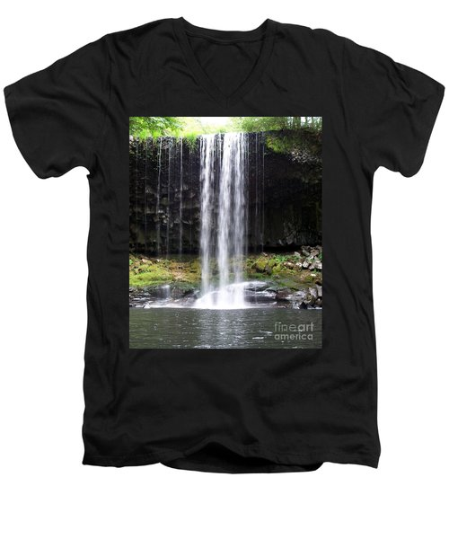 Men's V-Neck T-Shirt featuring the photograph Beaver Falls by Chalet Roome-Rigdon